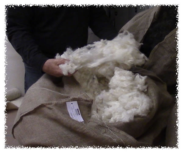 Lambs wool, luxury high end natural English fibres