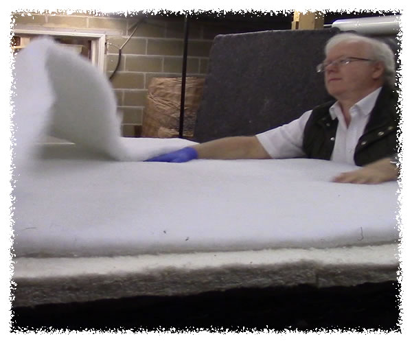 Second & third layers of a custom made mattress