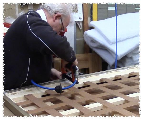 Wooden frame headboard construction